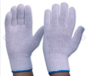 KNITTED POLY COTTON GLOVES MENS (PACK/12)