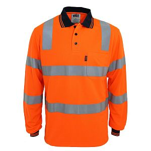POLO DNC HI VIS BIOMOTION TAPED L/S