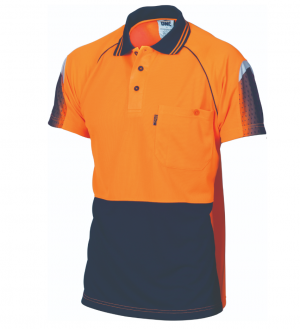 POLO HI VIS COOL-BREATHE PIPING S/S