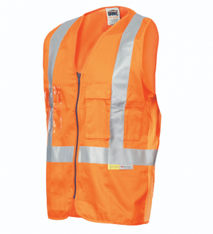 VEST COTTON SAFETY DAY/NIGHT CROSS BACK