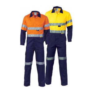 OVERALLS L/WEIGHT HI VIS W/3M TAPE