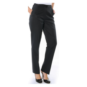 TROUSERS LADIES POLY/VISC FLAT FRONT