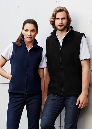 VEST MENS PLAIN MICROFLEECE