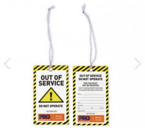""" OUT OF SERVICE "" ""DO NOT OPERATE"" TAG PACK OF 10"